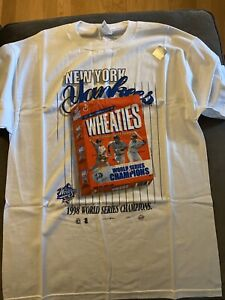 New York Yankees L Front Pages Wheaties Box Tshirt (One Of A Kind)