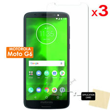 3 Pack of Clear LCD Screen Protector Cover Guards for Motorola Moto G6