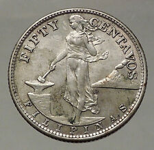 1944 S PHILIPPINES Fifty Centavos United States of America Silver Coin i57816