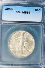1943-P ICG MS64 Walking Liberty Half Dollar!! #HH1