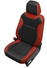 2015-18 Dodge Charger Custom Katzkin Cardinal and Black Leather Seat Covers