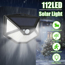 112 Led Pir Motion Sensor Outdoor Light Solar Power Waterproof Wall Garden Lamp