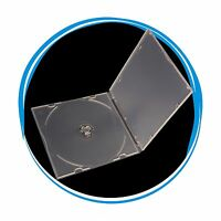 50 Pack 5.2mm Single Super Clear CD DVD R CDR DVDR Disc PP Poly Plastic Case