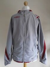 Umbro Ladies Grey Hooded Sports Training Running Keep Fit Jogging Top Size S