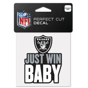 """OAKLAND RAIDERS PERFECT CUT DECAL 4""""X4"""" FOR WINDOWS NFL LICENSED USA SELLER"""