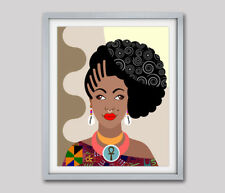 African American Art Black Woman Print Home Decor Afrocentric Gift Painting