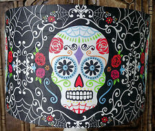 Mexican Day of the Dead Lamp shade , Lampshade gothic skull  Free Gift