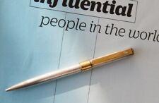 Dom Baiz International Ballpoint Pen 925 Silver Gold Plated Trim w/ Diamond