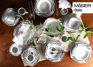 Mäser weißPorzellanOslo Zuckerdose und Giesser, Porzellan OSLO NEU & OVP 341