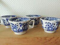 Ensemble de 4 tasses en faïence de Creil - Montereau modèle Pagode Japon XIXe