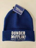 Dunder Mifflin Paper Company Inc. The Office Blue Beanie Hat NWT