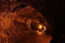 Lámina-Lava Tubo bajo el Hawaiano Isla Grande (imagen de arte cartel)