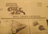 1963 Houston Colt 45's (Astros) Souvenir Novelty Mail Order Catalog - original