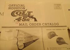 1963 Houston Colt 45's Astros Souvenir Mail Order Catalog - yearbook pennant ++