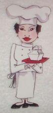 "New listing 6"" Loralie Italian chef fabric applique iron on"