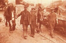 Nostalgia Postcard 1915 Coal Strike, Welsh Miners back to Work Repro Card NS18