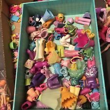 Large Lot Polly Pocket: Miniature Dolls, Shoes, Clothing & Accessories 2 Lbs.