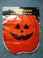 HALLOWEEN Pumpkin Bunting 12 feet long Flag Banner Decoration FREE P&P