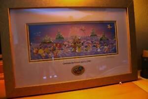 Disney Celebrate the Future Land to Land Framed Pin Set Super Rare