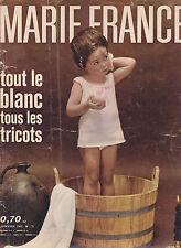 Marie-France N°71 janvier 1962 Mode vintage explications tricots  Sarcelles
