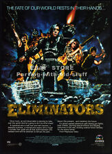 ELIMINATORS__Original 1986 Print AD / movie promo__DENISE CROSBY__CHARLES BAND