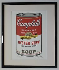 """Andy Warhol Campbell's Soup II """"Oyster Stew"""" Lithograph Limited 3000 pcs."""