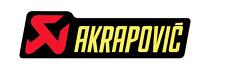 New Akrapovic sticker HEAT resistant exhaust muffler decal aprox 150x44mm race