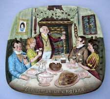 Royal Doulton Beswick '72 Christmas in England square collector plate 1st Ed 3D
