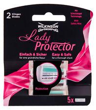 5 Wilkinson Sword Lady Protector Ersatzklingen für Damen Nassrasierer Klingen