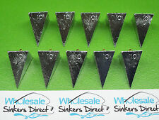 10 x size 10oz(280gms) hand cast australian made pyramid surf fishing sinkers