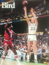 VTG Original 1984 Converse Shoes Larry Bird Dr. J  NBA Promotional Poster EUC