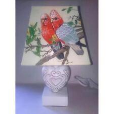 lampe de chevet creacat oiseau perruches perroquet peint main