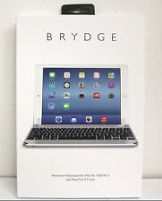 Brydge 9.7 Bluetooth Backlit Aluminum Keyboard for iPad Air 2 iPad Pro - Silver