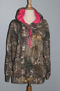New REALTREE Xtra Ladies Hoodie S M L XL 2XL Camo Pink Hunting Sweatshirt Womens