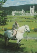 Royalty Postcard - H.M.The Queen Riding Highland Pony 'Madge' at Balmoral RR7947