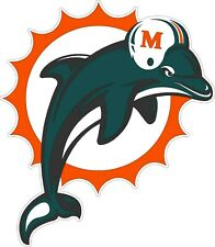 "Miami Dolphins NFL Football sticker, wall decor, large vinyl decal, 11""x 9.5"""