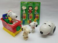 VINTAGE Lot of Snoopy & Friends ToothBrushes, Toys, & Christmas Sled
