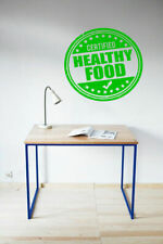 Wall Decal Room Sticker healthy food stamp quote healthy life style art bo3011