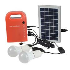 Dc solar panel rechargeable generator portable home outdoor power supply system