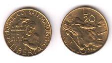 1994 San Marino Lire 20 Lavorazione Della Pietra Fior di Conio Unc