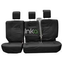 Land Rover Defender INKA Rear Tailored Waterproof Seat Covers Black MY05-16
