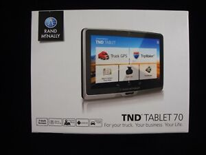 Rand McNally TND Tablet 70 with inbuilt Dashcam & Bluetooth Truck GPS + Tablet