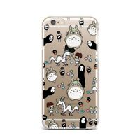 Cute Totoro Away Thin Rubber Case iPhone XR XS MAX X Silicone Cover iPhone 7 8 +