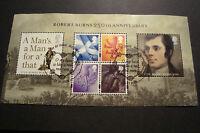 GB 2009 Commemorative Stamps~Robert Burns M/S~Very Fine Used Set~UK Seller