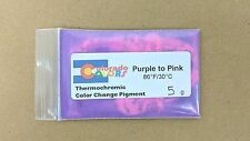 Purple to Pink Thermochromic Color Heat Change Powder Pigment 5g 86F