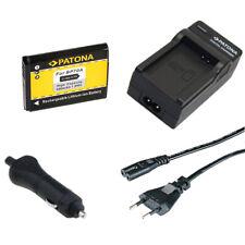 Batteria Patona + caricabatteria casa/auto per Samsung ES75,ES78,ES80,ES81,ES90