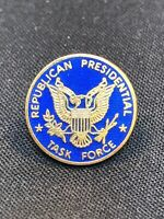 Vintage Republican Presidential Task Force Lapel Pin Pinback Blue Enameled