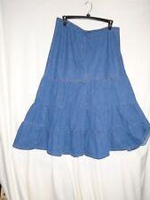 Venezia LANE BRYANT Womens Sz 18 Denim Skirt Cotton Blend