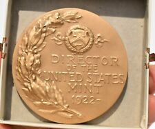 F.E. SCOBEY DIRECTOR OF THE U.S. MINT 1922 BRONZE MEDAL
