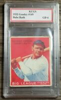 Rare 1933 Goudey Babe Ruth RP Card Graded